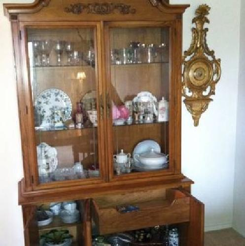 399 vintage dining room set with china cabinet for sale in cleveland