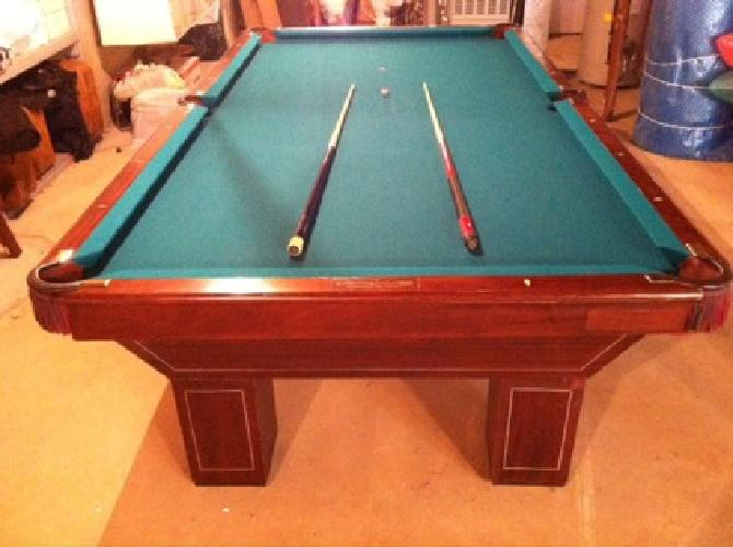 OBO Antique Brunswick Balke Collender Model Coreno 9ft Pool Table .