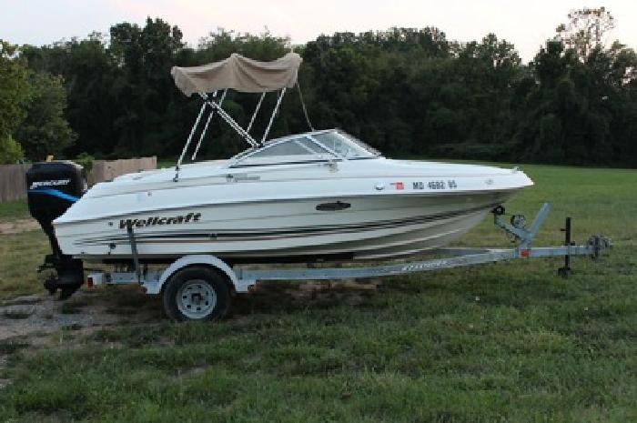 3 400 2002 wellcraft sportsman 180 boat fishing mercury for Outboard motors for sale maryland