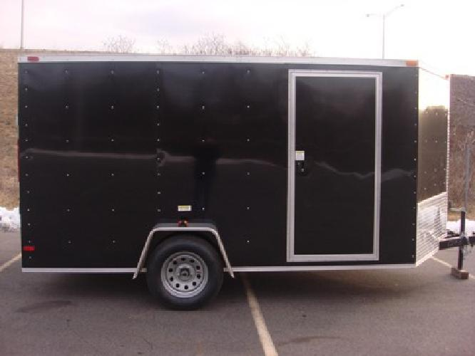 $3,495 Bike week 7x12 V nose enclosed cargo trailer. Storage moving harley