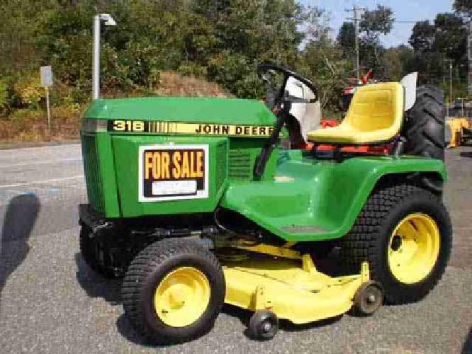 3 500 1987 John Deere 318 Tractor With 50 Quot Mower 54 Quot 4