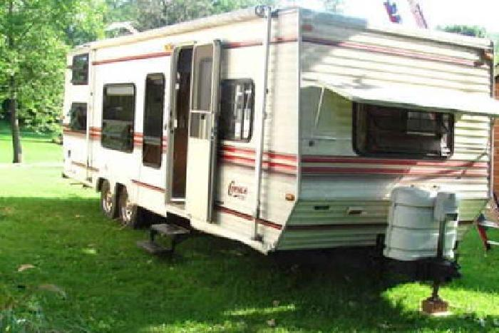 3 500 1991 corsair 24ft bumper pull camper for sale in bellaire ohio classified. Black Bedroom Furniture Sets. Home Design Ideas