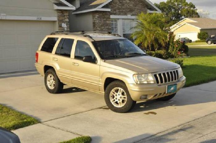 $3,500 1999 Gold Jeep Grand Cherokee Limited