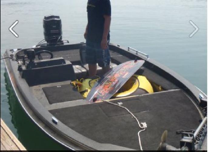 $3,600 1988 Tidecraft Boat, motor and trailer
