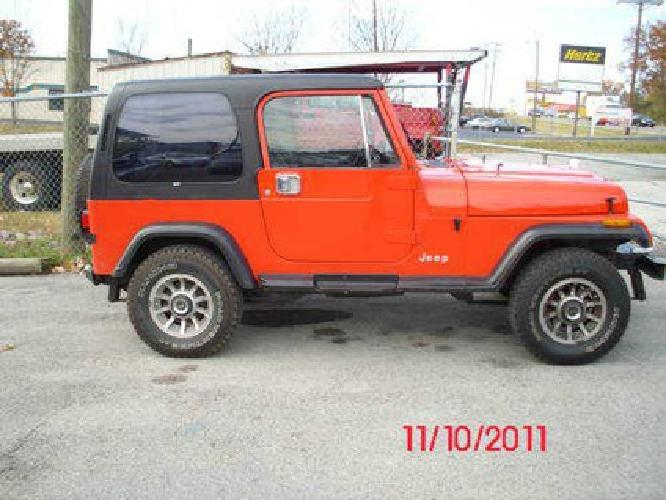 3 800 1989 jeep wrangler hardtop for sale in knoxville tennessee classified. Black Bedroom Furniture Sets. Home Design Ideas