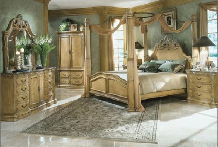 $3,900 AICO-La Francaise 7 Piece King Complete Bedroom Suite