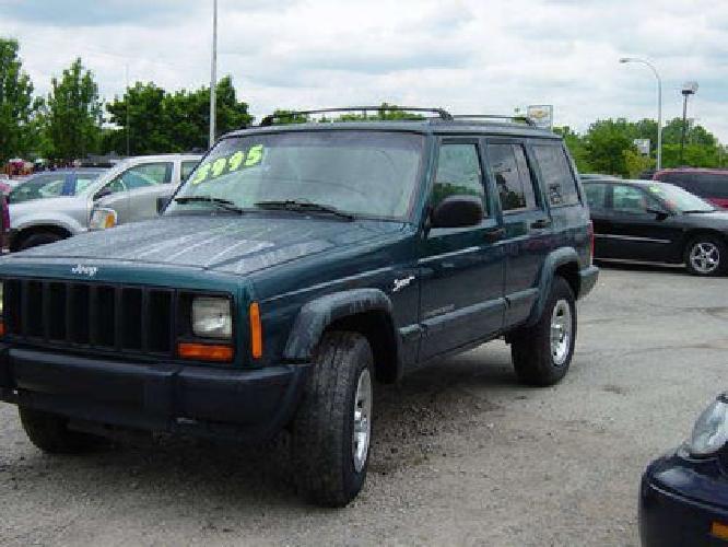 $3,995 98 Jeep Cherokee Classic Sport 4x4 4.0L - Green