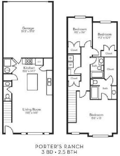 3 Beds - Porter Ranch Townhomes