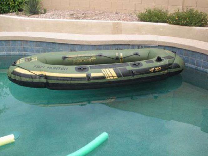 400 2008 sevylor fish hunter 360 inflatable raft with for Sevylor fish hunter 360