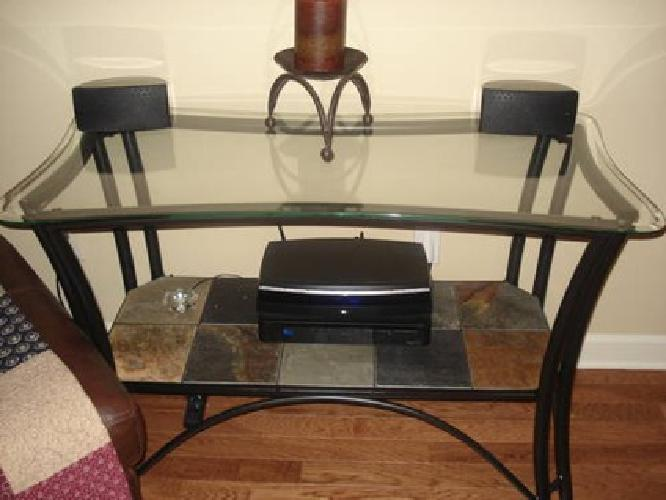 $400 Ashley s Glass Sofa Table Coffee Table and Two End