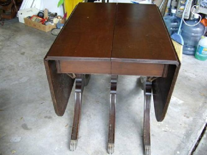 400 Dining Room Double Drop Leaf Table From The 1940 S