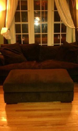 $400 Extra deep sofa and storage ottoman