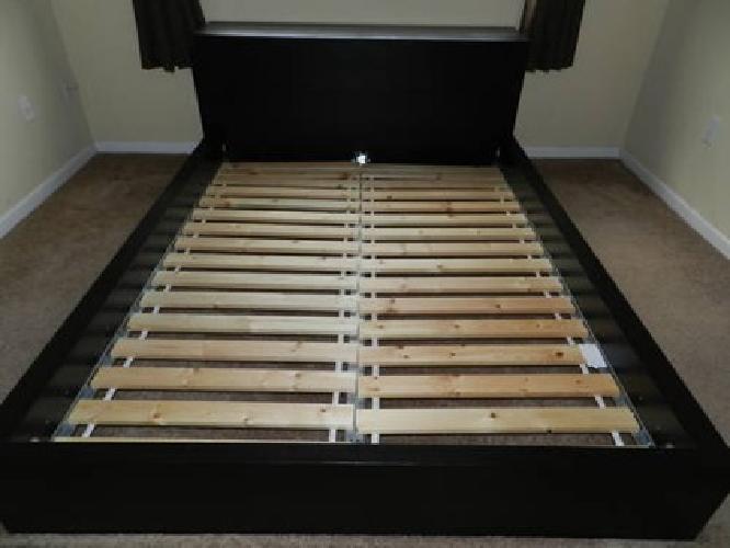 400 ikea malm queen bedroom set bed side tables dresser black