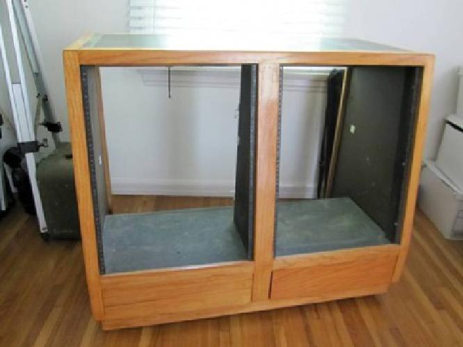 $400 Oak Recording Studio Rack