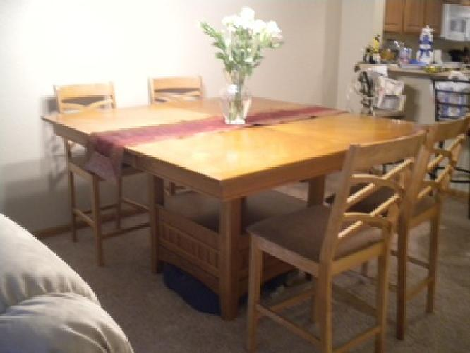 400 obo counter height solid oak dining room set for sale in cedar