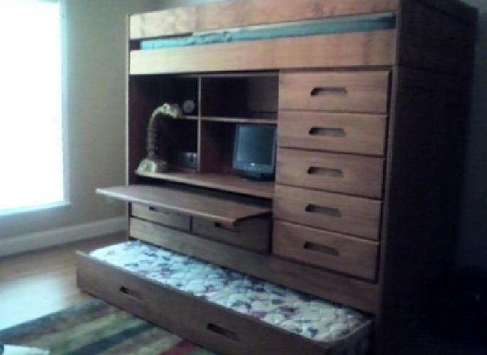 400 solid wood bunk bed wbuilt in dresser and desk bunk bed dresser desk