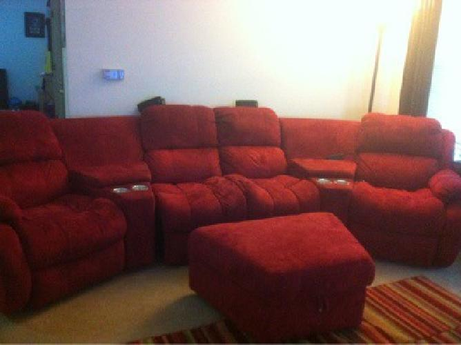 400 theater style dual recliner microfiber sofa for sale