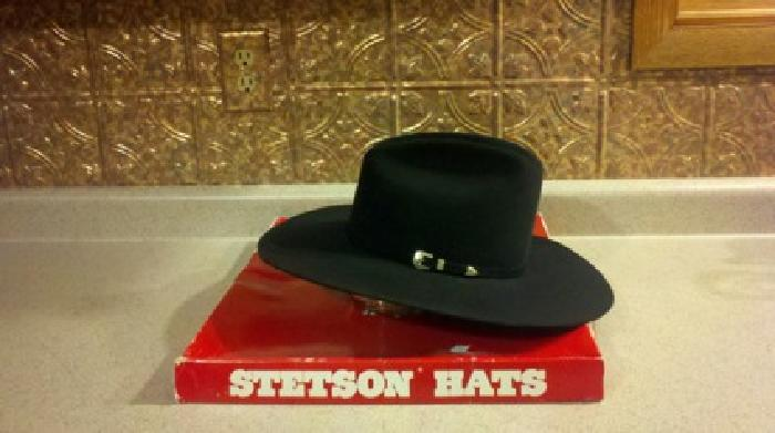 40 Black Stetson Cowboy Hat for sale in Rochelle a2b734f6055