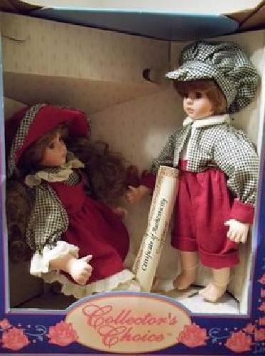 $40 Fine Bisque Porcelain Dolls Boy/Girl Set