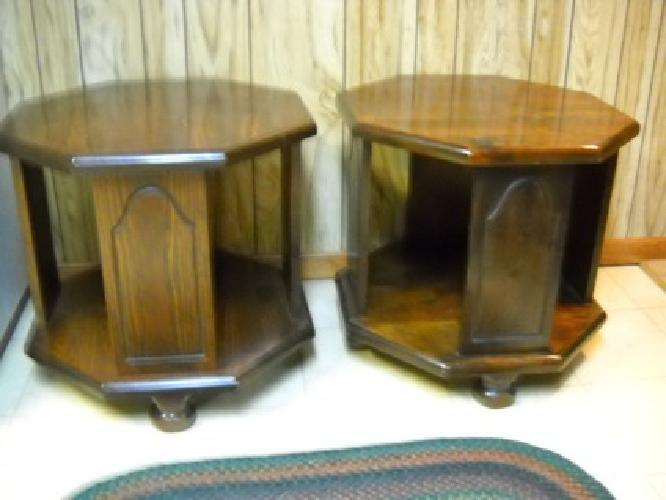 $40 pair of solid pine octagon end tables