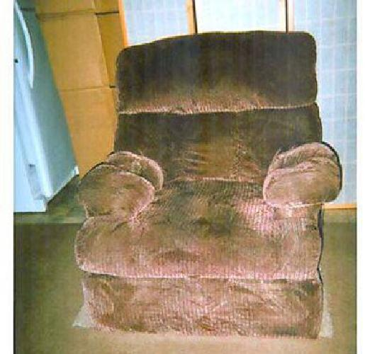 $40 RECLINER burgundy, cloth, heated -
