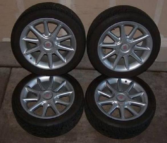$425 LIKE NEW! SET - 17 Italian Wheels / BFG Tires SUBARU TOYOTA 5X100 Rims
