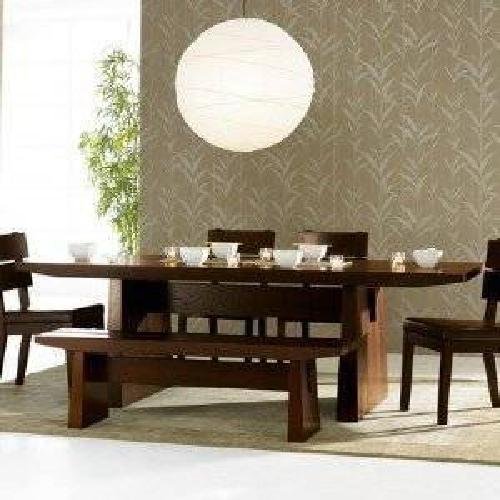 $425 Sit Hida Dining Table Dark Oak by Sit for