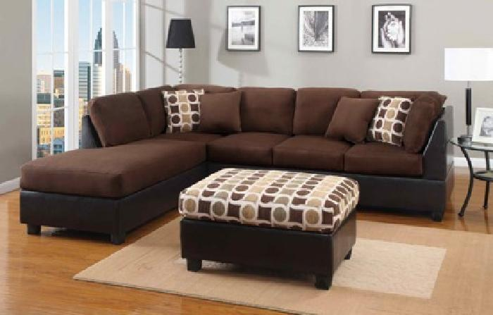 $439 Modern 2-Piece Sectional Sofa with Pillows