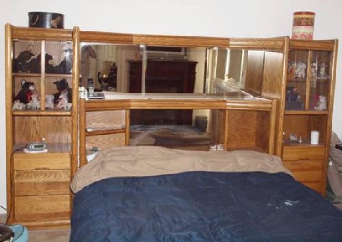 449 Oak Bed Set King Size