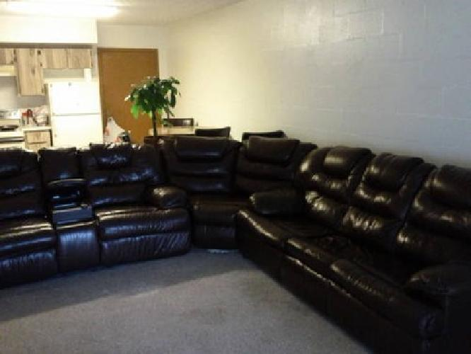 $450 3 piece leather sectional $450 Kissimmee for sale