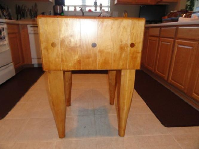 450 butcher block free standing reduced price for sale