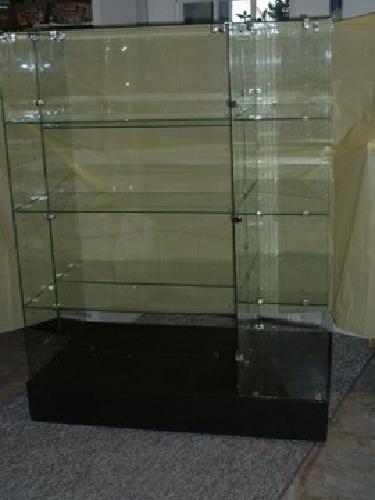 $450 Glass display shelves