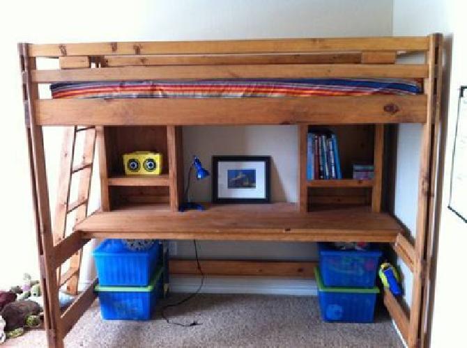 450 kids loft bed bunk bed desk combo for sale in frisco. Black Bedroom Furniture Sets. Home Design Ideas