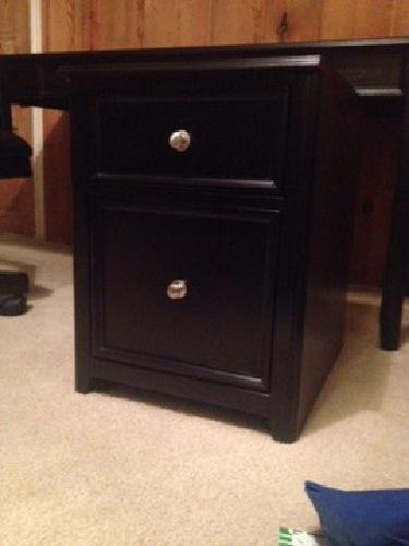 $450 Office set : desk, chair, bookshelf, file cabinet