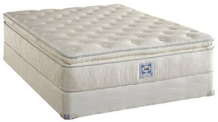 450 Used Queen Sealy Mattress Box Spring For Sale In