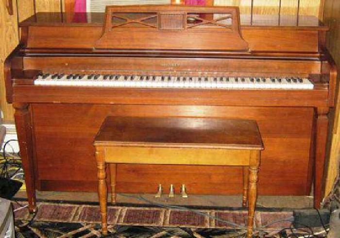 450 whitney by kimball upright spinet piano for sale in for How much space does a baby grand piano need