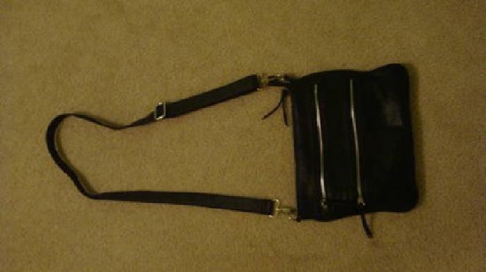 $45 Black leather crossbody bag