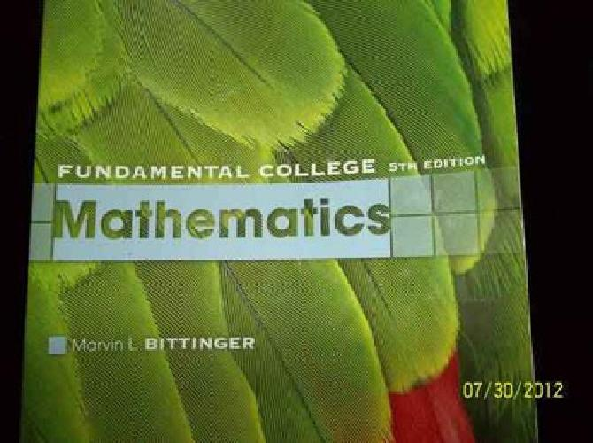 $45 Fundamental College Mathematics (5th Edition)