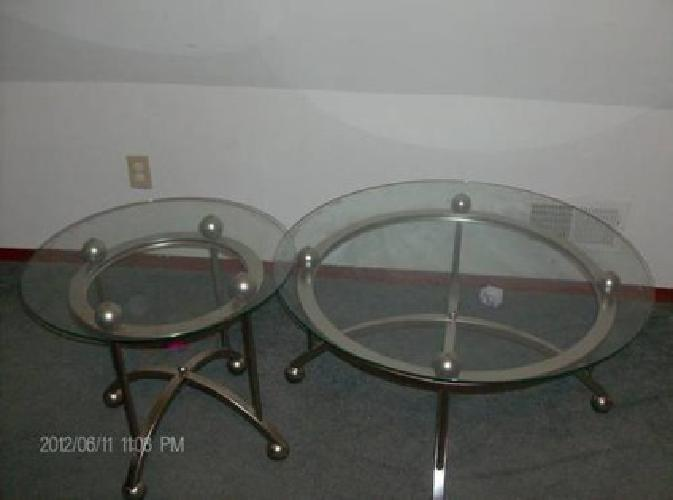 $45 Glass Coffee Table & End Table