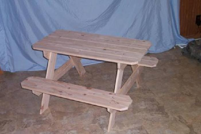 45 Infant Picnic Table Handmade Wood For Sale In