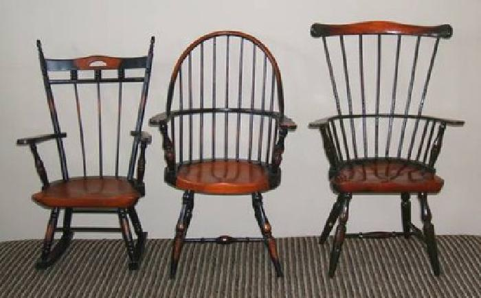 $45 Mini Vintage Windsor Doll Chairs (set of 3)