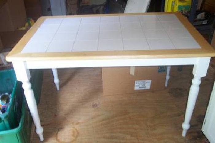 45 Nice Kitchen Table White Wood With Ceramic Tile Top