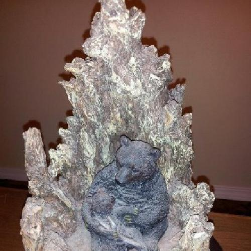 $45 OBO Momma and Baby Bear Sculpture