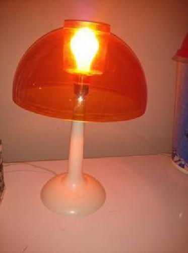 45 Orange Vintage Mushroom Lamp Acrylic Plastic 70 S For Sale In Portage Indiana Classified