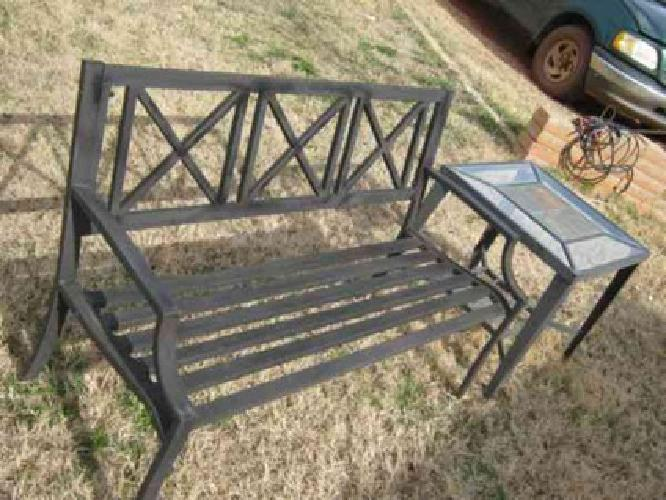 45 Outdoor Metal Bench Table For Sale In Oklahoma City