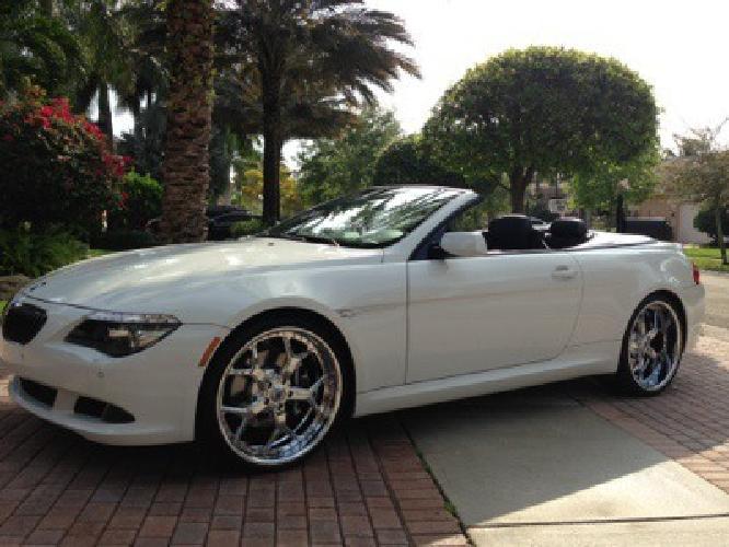 $47,000 2009 White BMW 650i Convertible RIMS CPO Clean