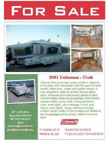 $4,220 Pop Up Coleman Camper for sale in Sheboygan