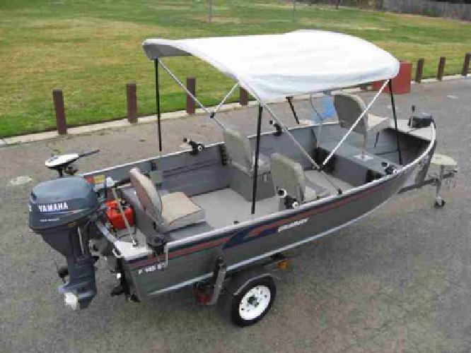 4 250 aluminum fishing boat and 4 stroke yamaha motor for Yamaha fishing boats