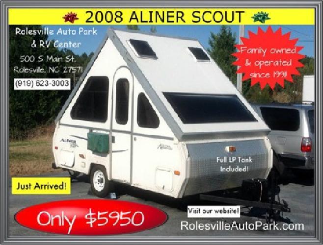 4,450 $4,4502008 aliner scout camper travel trailer in ...