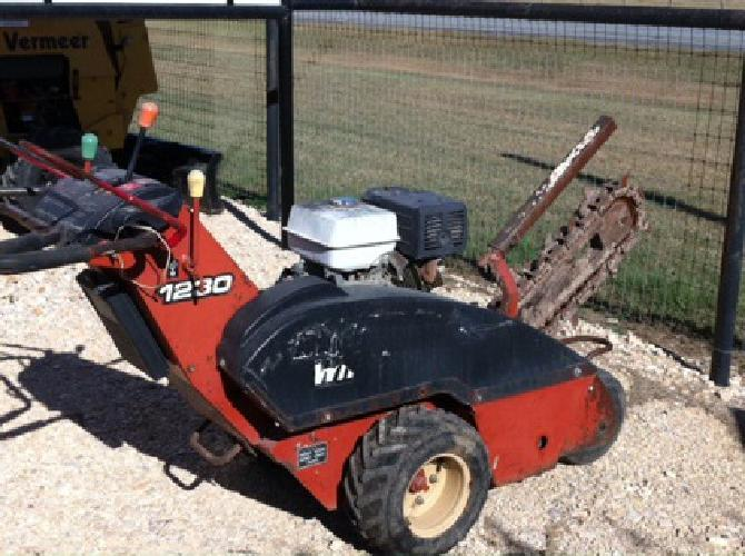$4,500 Walk Behind Trencher Available For Sale and Rent